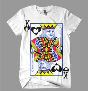 Black Heartz King of Heartz Tee